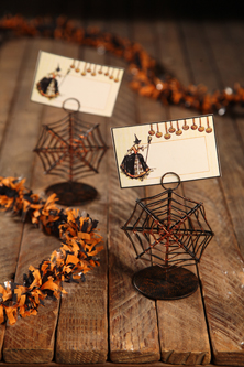 Spider Web Place Card Holders, Bethany Lowe, Set of 4