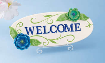 Springtime Welcome Plaque, Sign