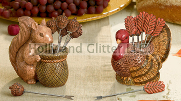 Squirrel Or Turkey Appetizer Picks, Autumn & Thanksgiving