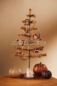 Traditional Thanksgiving Feather Tree With Garland & Bucket Ornaments, Bethany Lowe