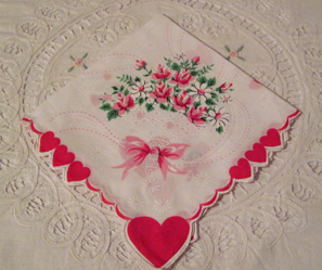Valentine Rose Bouquet Handkerchief