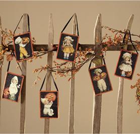 Victorian Halloween Postcard Ornaments, Bethany Lowe, Set Of 6