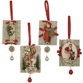 Victorian Santa Ornaments, Bethany Lowe
