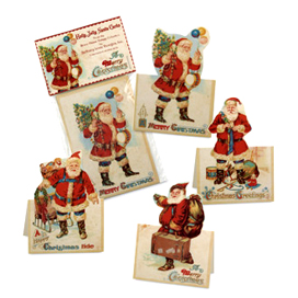 Vintage Santa Place Cards, Bethany Lowe