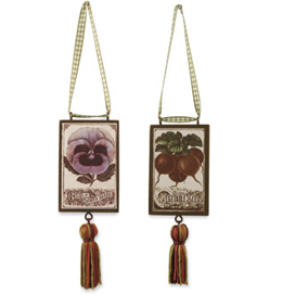 Vintage Seed Packet Ornaments, Set Of 4 (SE448)