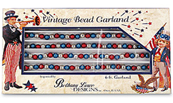 Americana Vintage Bead Garland, 6 Ft, Bethany Lowe