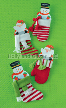 Retro Santa & Snowman Gift Card Holders, 4 To Choose From!  Free Shipping!