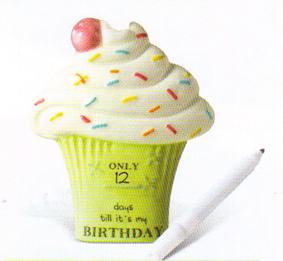 Cupcake Birthday Countdown Magnet
