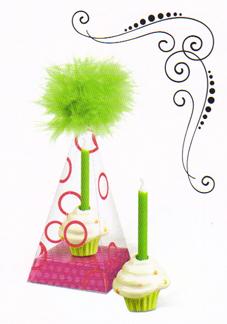 Cupcake Birthday Cake Candle Holder