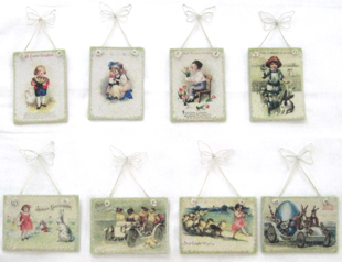 Easter Deco Bead Ornaments, Bethany Lowe, Set of 8