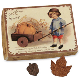 Fall Harvest Confetti In A Vintage Inspired Box, Bethany Lowe