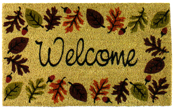 Autumn Leaves & Acorn Coir Doormat