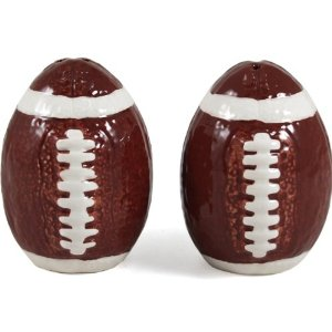 Football Salt & Pepper Shakers, Sports Parties, Super Bowl