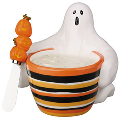 Frightening Ghost Dip Bowl & Spreader Set