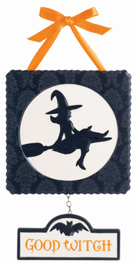 """Good Witch"" & ""Bad Witch"" Plaque"