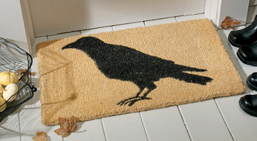 Halloween Black Crow Doormat