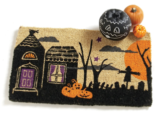 Halloween Night Scene Doormat