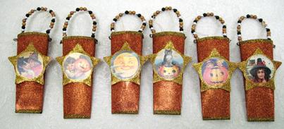 Halloween Vintage Pockets, Set Of 6