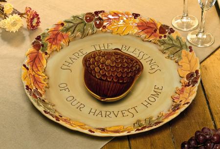 Harvest Chip & Dip Plate