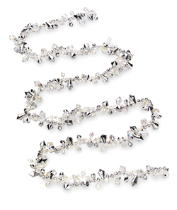 Translucent Clear & Silver Bead Garland