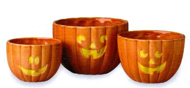 Halloween Pumpkin Serving Bowls