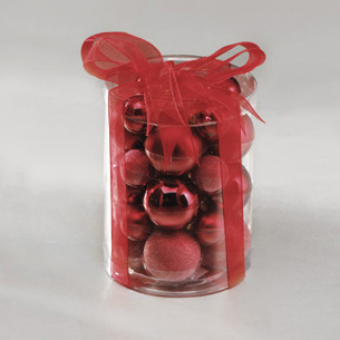 Red Ball Ornaments, Miniature