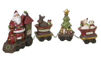 Santa Train Set, Set of 4