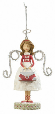 Shopping Angel Ornament, I Love Shopping