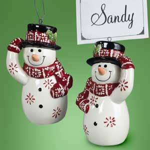 Snowman Place Card Holders/Ornaments