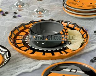Halloween Spider & Spider Web Chip & Dip