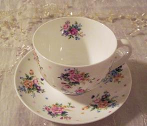 Spring Floral Teacup & Saucer Set