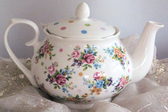 Spring Floral Teapot With Infuser