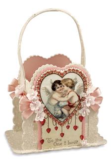 Valentine Pink Cupid Bucket, Casey Mack