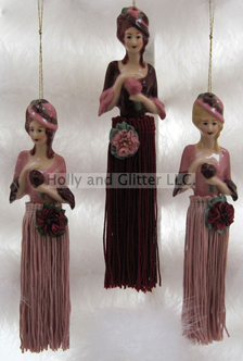 Victorian Doll Tassel Ornaments, 4 Styles To Choose From!