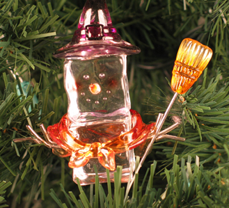 Witch Ice Fella Ornament, Halloween