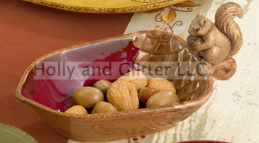 Woodland Squirrel & Acorn Nut Dish